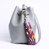 DAUNAVIA Women bag with Colorful Strap Bucket Bag Women PU Leather Shoulder Bags Brand Designer Ladies Crossbody messenger Bags