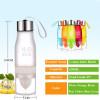 Transhome Creative Fruit Juice Infuser Water Bottle 650ml H2O Plastic Portable Lemon Juice Bottle For Water Outdoor Shaker Sport