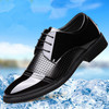 2018 Men's Fashion Luxury Pointed Toe Casual Leather Shoes Mens Lace Up Business Dress Wedding Office Males Fashion Wedding Shoe