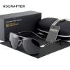 HDCRAFTER Men Polarized Aviator Sunglasses New brand designer Aluminum Magnesium Driving Male Fashion Sunglasses 2018