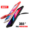 Luxury Soft TPU Silicone 360 Full Cover Cases For iPhone 8 7 6S 6 case 5 5S SE Cover Cases For iPhone 6 7 8 Plus case with glass