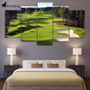 Canvas Print 5 Pieces Paintings Golf Course Wall Art Canvas Pictures For Living Room 5 pcs print posters modular pictures