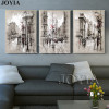 Home Decor Canvas Painting Abstract City Street Landscape Paintings Wall Pictures For Living Room 3 Piece Wall Art No Frame