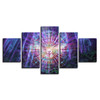 HD Prints Posters Home Decor Living Room 5 Pieces Psychedelic Kaleidoscope Owl Bird Canvas Paintings Wall Art Pictures Framework