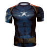 Captain America Compression Shirt Short Sleeve 3D Printed T-Shirts Men Cosplay Costume Crossfit Fitness Tops For Male