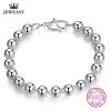999 Sterling Silver Bracelet Beads Shape Smooth Ball Men And Women Bangle Lucky Classic Jewelry Genuine 2017 New Hot Sale Good