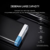 Rock 20000mah Power Bank for iPhone 8 7 6 plus Backup Charger Polymer Powerbank 20000 mah External Battery Portable for Samsung