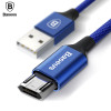 Baseus Reversible Micro USB Cable For Samsung Xiaomi Redmi Note 4X Mobile Phone Data Sync Cable Double-Sided USB Charger Cable