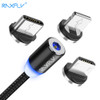 RAXFLY 2in1 Magnetic Cable Micro USB Cable For Samsung S3 S4 S6 Lighting Cable For iPhone 7 6 5 USB Type-C Cable for Xiaomi 5 5s