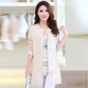 New Fashion Autumn Spring Women Sweater Cardigans Casual Warm Long Design Female Knitted Coat Cardigan Sweater Lady