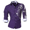 2018 Spring Autumn Features Shirts Men Casual Jeans Shirt New Arrival Long Sleeve Casual Slim Fit Male Shirts Z030