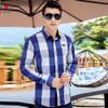 2018 New Arrival Men's shirt  Long Sleeve Shirt Mens Dress Shirts Brand Casual  Fashion Business Style Shirts 100% Cotton 064