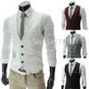 2018 New Arrival Dress Vests For Men Slim Fit Mens Suit Vest Male Waistcoat Gilet Homme Casual Sleeveless Formal Business Jacket