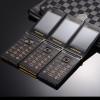 "Touch big screen 3.0"" display Business flip quick sos key metal body senior men non-smart mobile cell phone P302"
