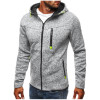 2018 New Spring Fleece Hoodies Men Fashion Solid Sweatshirts Zipper Cardigan Cotton Sportswear Slim Fit Men's Tracksuit 3XL