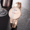 CUSSI Top Brand Silver Womens Watches Quartz Wristwatches Luxury Ladies Bracelet Watches Fashion Dress Watches relogio feminino