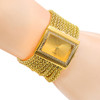 Hot Sales Classic Luxury Quartz Watch Women's Gold Diamond Case Alloy Band Bracelet Watch New Design 5DC9 6YLN