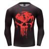 New Marvel 2018 Punisher Superhero Superman/Batman Men Long Sleeve T Shirt G ym Compression Tights Tops Fitness T-shirt