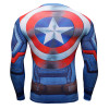 2016 Men T-Shirt 3D  T shirt Captain America Anime Print Long Sleeve Male Tops Fashion Funny Character Camiseta ZOOTOP BEAR