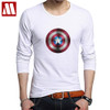 2018 Classic superhero movie Captain America 3D Shield T-Shirt Men elastic cotton T shirt Fitness Tights Tshirt Male Tee Tops