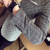 2017 spring men's high-end casual suits Korean Slim lattice small suit business casual checkered youth tide single suit jacket
