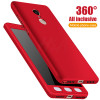 H&A Full Cover Phone Case For Xiaomi Redmi Note 4 4X Shockproof Protective Case For Redmi Note 4X Global Version With Glass