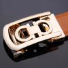 Jaguar Designers Luxury Cowhide Brand Genuine Leather Automatic Buckle Belt for Mens High Quality Jaguar Ceinture Homme Orange