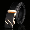 2017 New Brand Jaguar Designer Automatic Buckle Men's Belt Genuine Leather Belt Silver Golden Belts for Men