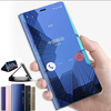 Luxury Clear View Mirror Smart Case For iPhone X 7 8 6 6s Plus 10 Leather Flip Stand Phone Case For iPhone X 7 8 Plus 6 6s Cover