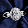 Womens Rings Jewelry design Wedding Rings for Women Real 925 Sterling Silver Ring 1 Carat CZ Diamant Crystal Jewelry Finger Ring