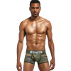 BSHETR Brand Male Underwear Sexy Men Boxer Shorts Soldier Breathable Cotton U Convex Boxers Homme Tide Camouflage Printed Cueca