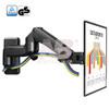 "NB F150 Aluminum Alloy 360 Degree 17""-27"" Monitor Holder Gas Spring Arm LED LCD TV Wall Mount Loading 2-7kgs"