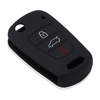 AndyGo Silicone 3 Button Remote Flip Key Case Fob Cover For Kia Rio Sportage Soul ceed For HYUNDAI i30 Verna Veloster i35