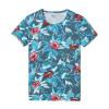 SIMWOOD 2018 Spring Summer Hawaiian  T Shirts Men 100% Pure Cotton Brand Clothing Print  Tees Plus Size Slim Fit TD1168