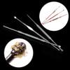 3 PCs/Set Pro Rose Gold/Silver Stainless Steel Ear Pick Double-ended Earpick Ear Wax Curette Remover Ear Cleaner Earpick Spoon