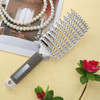 Smooth Hair Pure Pig Hairbrush Women Wet Hair Brush Professional Styling Plastic Nylon Big Bent Comb Hairdressing Styling Tool