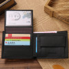 Luxury 100% Genuine Leather Wallet Fashion Short Bifold Men Wallet Casual Soild Men Wallets With Coin Pocket Purses Male Wallets
