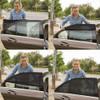 Professional Adjustable Auto Car Side Rear Window Sun Shade Black Mesh Car Cover Visor Shield Sunshade UV Protection Size L