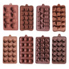 DIY silicone bakeware stable 15 holes round silicone chocolate mold jelly pudding mold silicone ice cube