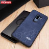 For samsung s9 plus case for samsung galaxy S9 plus case slim cover luxury leather for samsung s9 case blue black original MOFI
