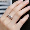 INBEAUT Women Fashion 925 Silver Shining Zircon Ring Set for Teen Girls Trendy Discount Couple Wedding Rings Bridal Jewelry