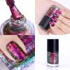 BORN PRETTY 1 Bottle 9ml Chameleon Nail Polish Nail Sequins Lacquer Varnish Glitter Sequins Irregular Paillette Nail Lacquer