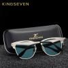 KINGSEVEN BRAND DESIGN 2018 UV400 Sunglasses Women and Men Fashion Retro Vintage Glasses Mirror Eyewear Gafas de sol N7739