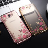 Luxury Flower Silicone Cases for Samsung Galaxy J2 J3 J5 J7 2017 A3 A5 A7 2016 S3 S4 S5 S6 S7 Edge S8 S9 Plus Grand Prime Cover