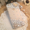 Smartphone case Fashion Bling Crystal Pearl Rhinestone Hard Clear Case Cover Transparent hard shell For Samsung iPhone 6 7plus