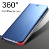 Clear View Mirror Smart Case For Samsung J3 J5 J7 2017 A3 A5 A7 A8 Leather Flip Stand Case For For Samsung S9 S8 Note 8 S7 Cover