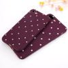 USLION Wave Point Phone Case For iPhone 8 Plus Wine Red Ploka Dots Soft TPU Back Cover For iPhone X 8 7 6 6S Plus 5 5S SE Cases