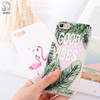KRY Relief Flamingos Phone Cases For iPhone 7 Case 7 8 Plus Cases For iPhone X Leaf Soft Cover For iPhone 6 Case 6S 5 5S SE Capa