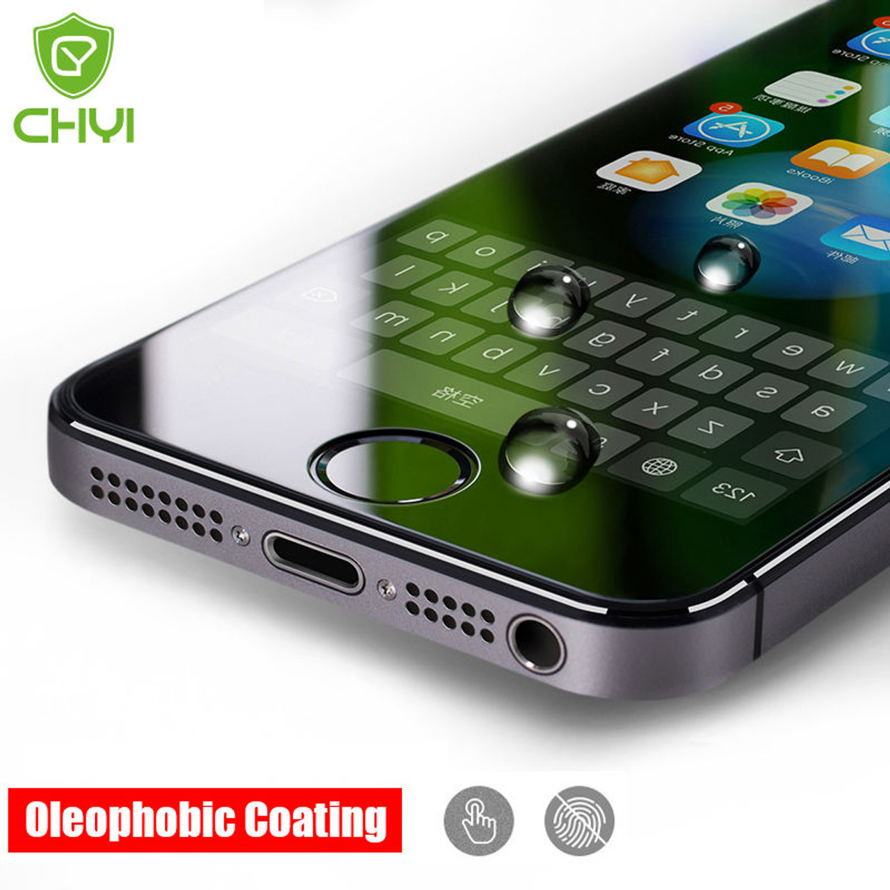 premium selection 756fd 3234c CHYI No Fingerprint Premium Matte Glass For iphone 5s SE 5 5C Screen  Protector Oleophobic Coating 9H Tempered For iPhoneSE Glass