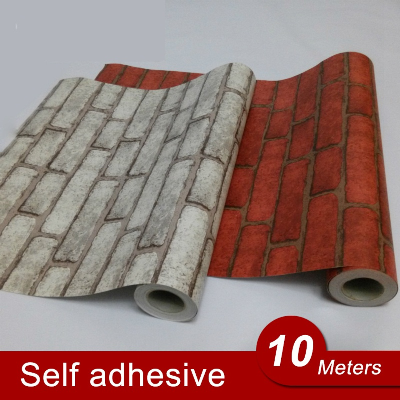 10m back with glue vinyl self adhesive wallpaper pvc wall stickers